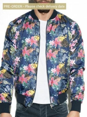 ES Collection Floral Bomber JCK09 Blue