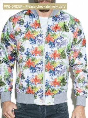 ES Collection Floral Bomber JCK09 White