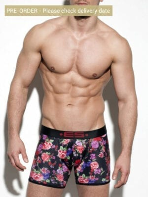 ES Collection Flowery Boxer UN252 Black