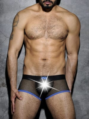 Addicted ADF03 Fetish Mesh Short Boxer Royal Blue W