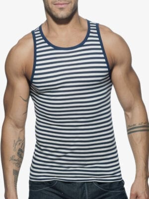 Addicted AD588 Sailor Tank Top Navy W