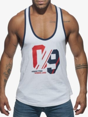 Addicted AD723 Sport 09 Tank Top White W