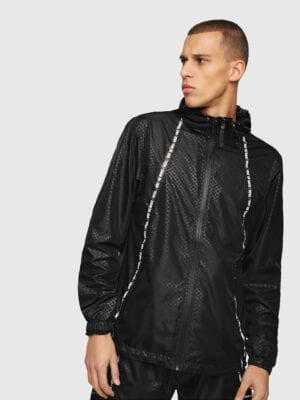 Diesel Beachwear Windbreaker 0WATM Black