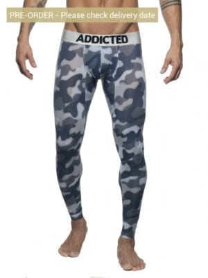 Addicted AD694 Camo Long John Grey