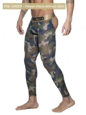 Addicted AD695 Bottomless Camo Long John Khaki