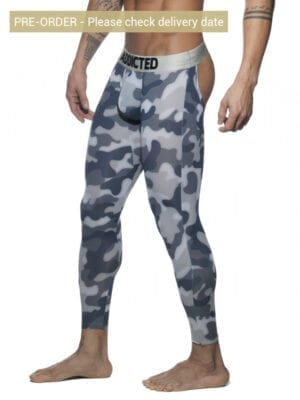 Addicted AD695 Bottomless Camo Long John Grey