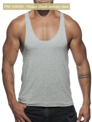 Addicted AD340 Tank Top Back Printed Grey