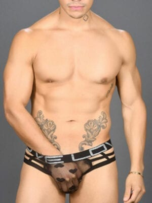 Andrew Christian Love Sweetheart Mesh Cage String 90950 Black