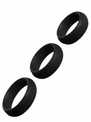 Silicon Cockring Triple Set 909090 Black