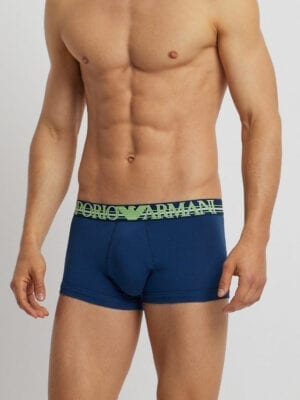 8115715d Emporio Armani Stretch Cotton Boxer Trunks Branded Color Play 111389