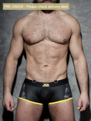 Addicted ADF72 Camo Mesh Boxer Yellow