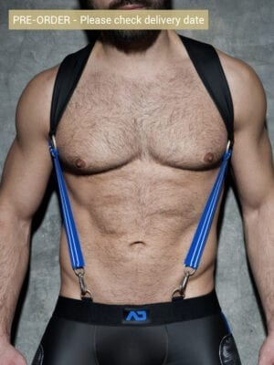 Addicted ADF87 Rubber Suspenders Royal