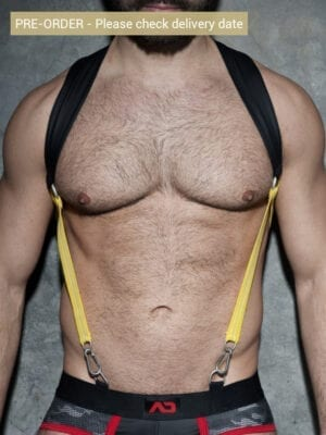 Addicted ADF87 Rubber Suspenders Yellow