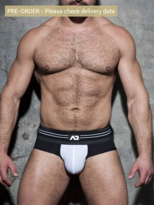 Addicted ADF112 Double Stripe Brief White