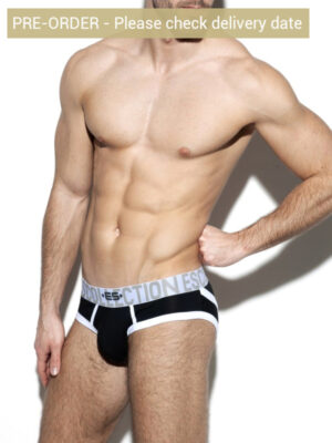 ES Collection UN312 Second Skin Bottomless Brief Black