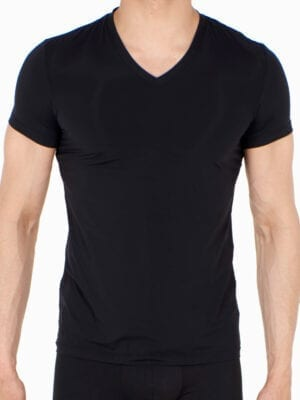 Hom Plumes T-Shirt V-Neck 401370 Black