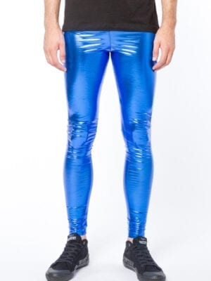 Kapow Cobalt Shock Meggings Blue Metallic