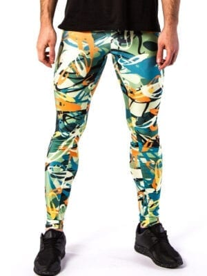 Kapow Electric Graffiti Meggings Multi Color