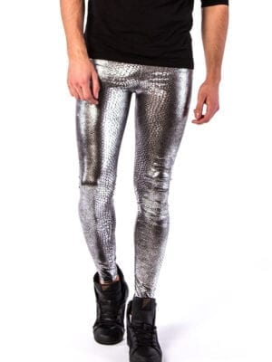 Kapow Jake The Snake Meggings Silver Metallic