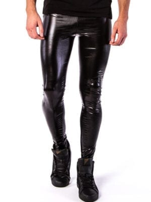 Kapow Nightrider Meggings Black Metallic