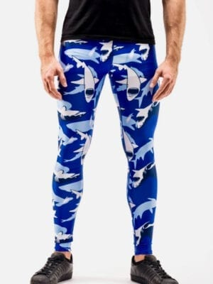 Kapow Sharknado Performance Meggings Blue
