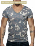 addicted washed camo t-shirt ad800 c17