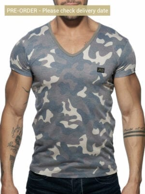 Addicted AD800 Washed Camo T-Shirt Kaki
