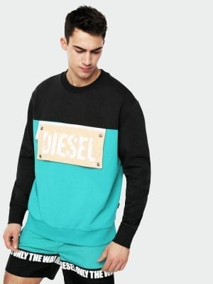 Diesel Beachwear Baysea Sweat Shirt 00SSJJ Green