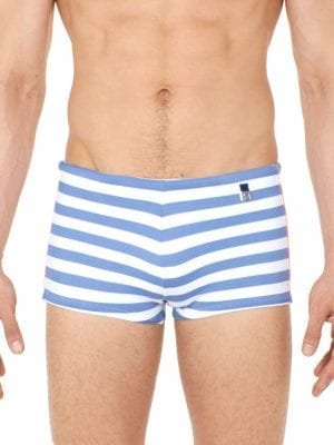 Hom Swimwear Swim Trunk Rivages 401252 White Blue