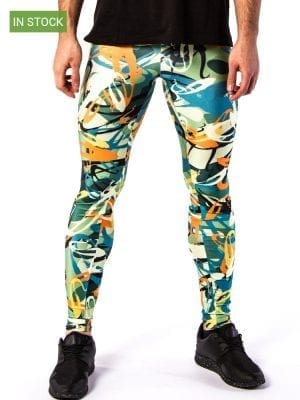 Kapow Electric Graffiti Meggings Multi Color W
