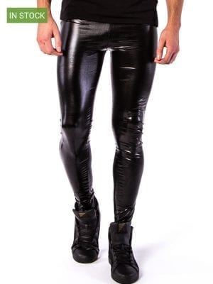 Kapow Nightrider Meggings Black Metallic W
