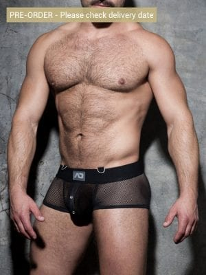 Addicted Fetish ADF78 Mesh Mixed Bottomless Trunk Black