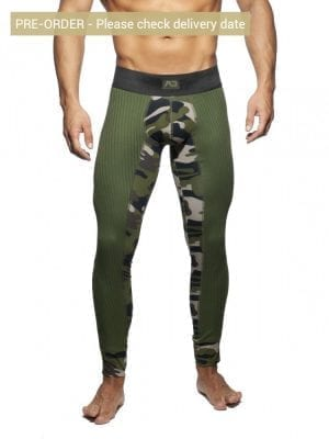 Addicted AD781 Camo Rib Long John Camouflage Khaki
