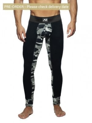 Addicted AD781 Camo Rib Long John Camouflage Grey