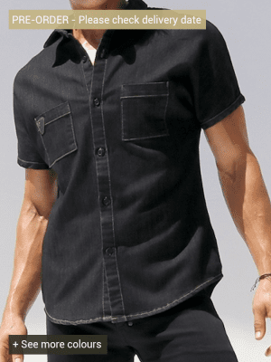 Rufskin Stud DM2074 Denim Shirt Black