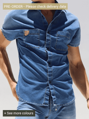 Rufskin Stud DM2074 Denim Shirt Distressed