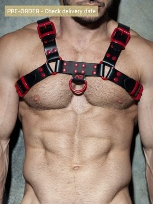 Addicted ADF119 Leather Color Harness C08 Red