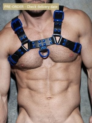 Addicted ADF119 Leather Color Harness C12 Royal Blue