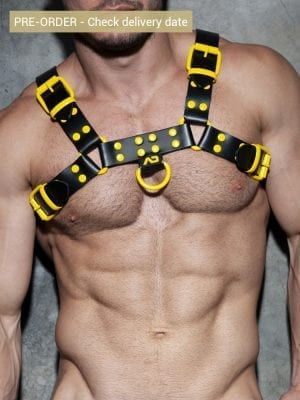 Addicted ADF119 Leather Color Harness C46 Yellow