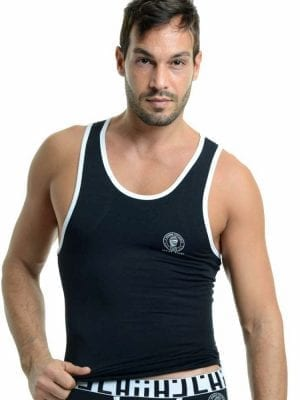 L'Homme Invisible Gym Tank Top SP43 Noir