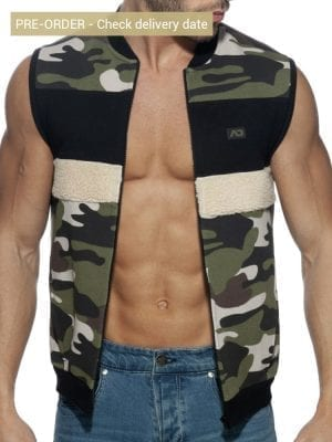 Addicted AD782 Camo Combi Vest Khaki